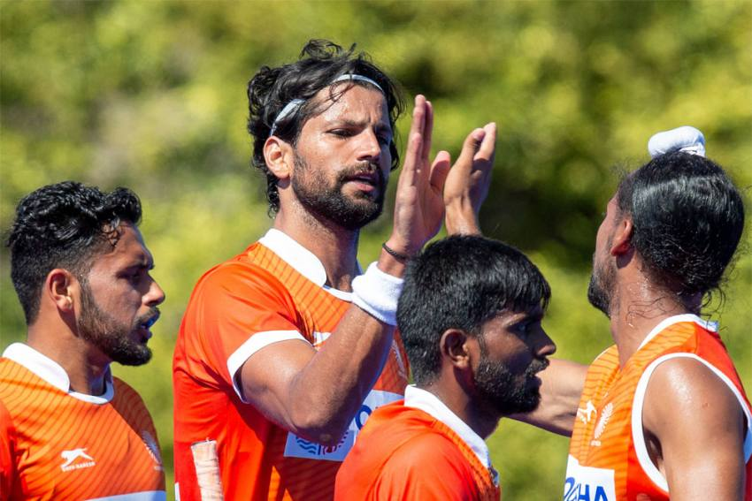 India Play Out Thrilling 4-4 Draw With Olympics Hockey Champions Argentina