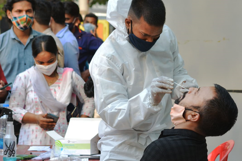 India's Covid-19 Tally Rises By Record 115,736 Cases As One-Lakh Mark Breached For Second Time