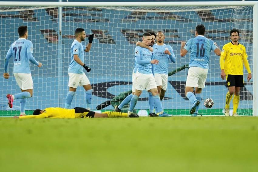 Manchester City 2-1 Borussia Dortmund: Foden Edges Guardiola's Men Ahead In Champions League Tie
