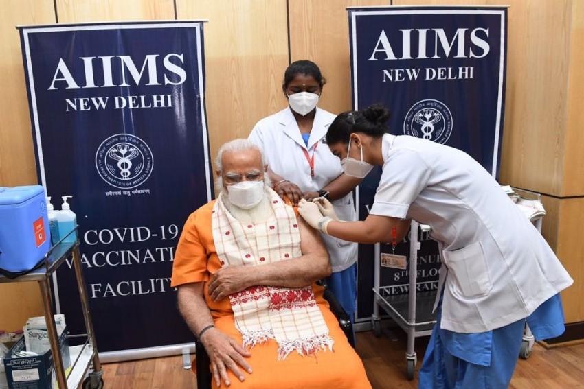 PM Narendra Modi Receives Second Dose Of Covid-19 Vaccine