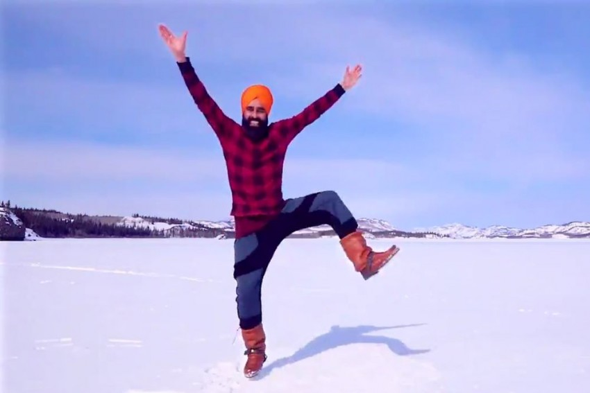 Watch: Man Gets Second Covid Vaccine Dose, Celebrates With Bhangra On Frozen Lake