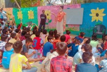 NGO Provides Food, Care And Classes To Children Of Covid Patients