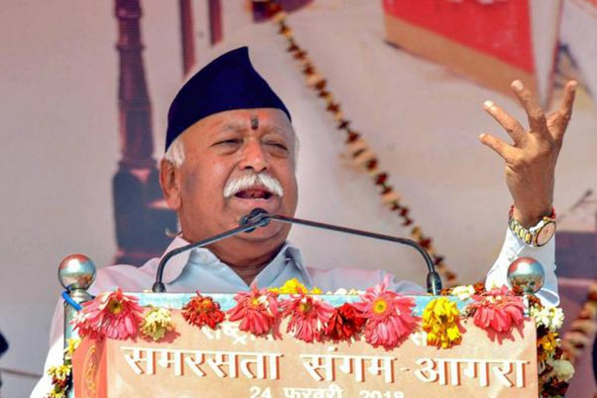 Covid-19: Amid Centre's Mismanagement, RSS Chief Mohan Bhagwat Issues A Call To Action