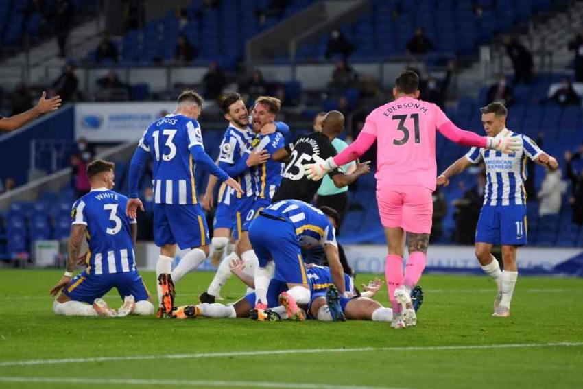 Dan Burn Strike Helps Brighton and Hove Albion Stun Premier League Champions Manchester City 3-2