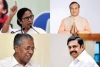 TMC Pulls Away In Bengal Race; BJP On Course In Assam, Puducherry; DMK, Left Set To Win TN, Kerala