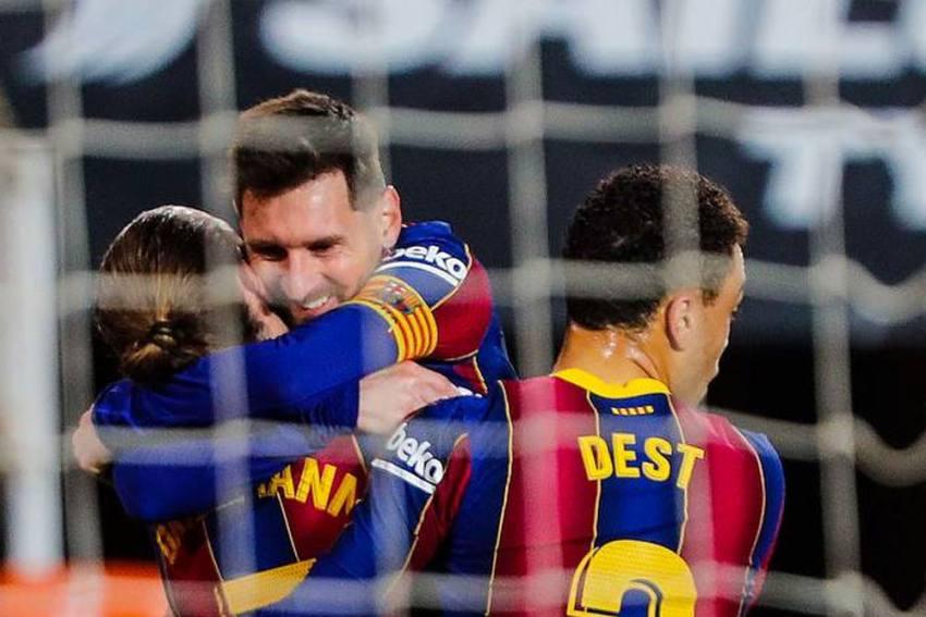 Valencia 2-3 Barcelona: Lionel Messi Double Rescues La Liga Title Chasers At Mestalla