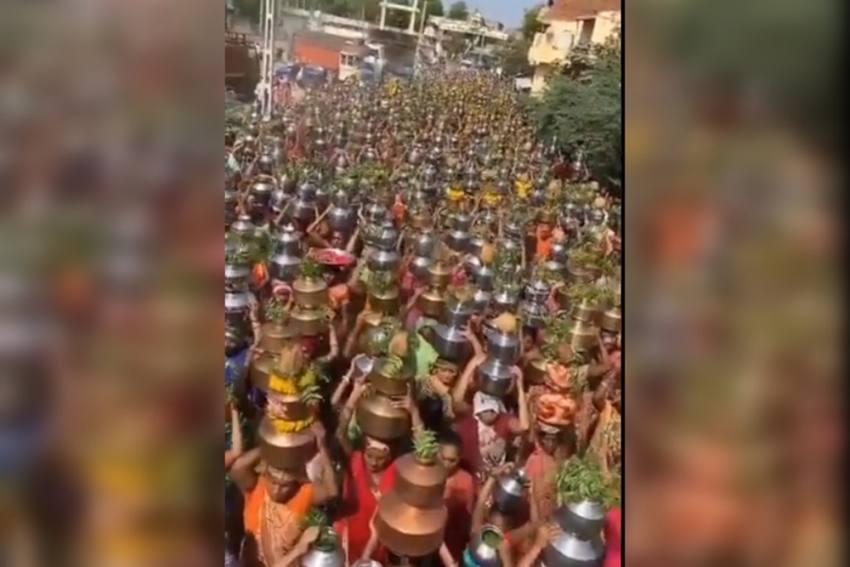Gujarat: Thousands Of Women Flock Religious Procession To 'Eradicate' Coronavirus