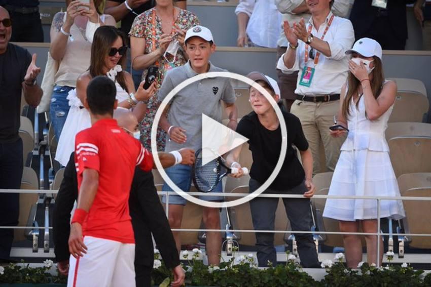 Novak Djokovic Gifts Young Fan Ultimate Souvenir At French Open, Watch Viral Video