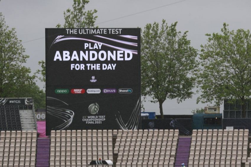 ICC WTC Final, IND Vs NZ: First Day's Play Washed Out, Reserve Day To Come In Force