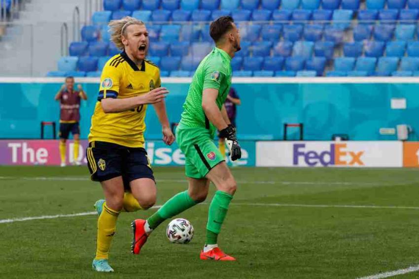 Euro 2020: Emil Forsberg Converts Penalty As Sweden Beat Slovakia 1-0