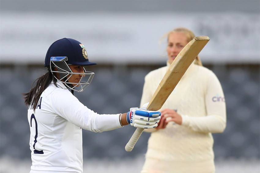 England Women Sledged A Lot, Says India's Savior Sneh Rana who first took four wickets, then played a match-saving knock of 80 not out in India's second innings. Courtesy: Twitter