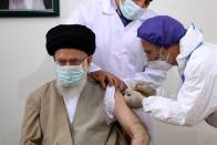 Iran's Supreme Leader Receives Its First Home-made Covid-19 Vaccine