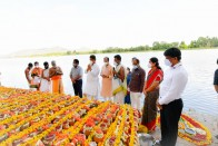 Karnataka Govt Performs Mass Immersion Of Unclaimed Ashes Of COVID Victims In Cauvery River
