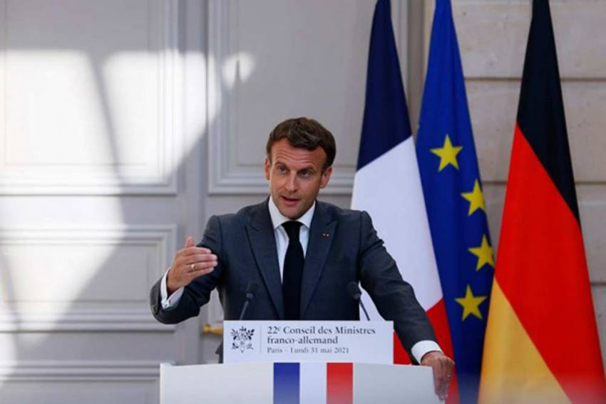 French President Emmanuel Macron Slapped In Public, Video Surfaces