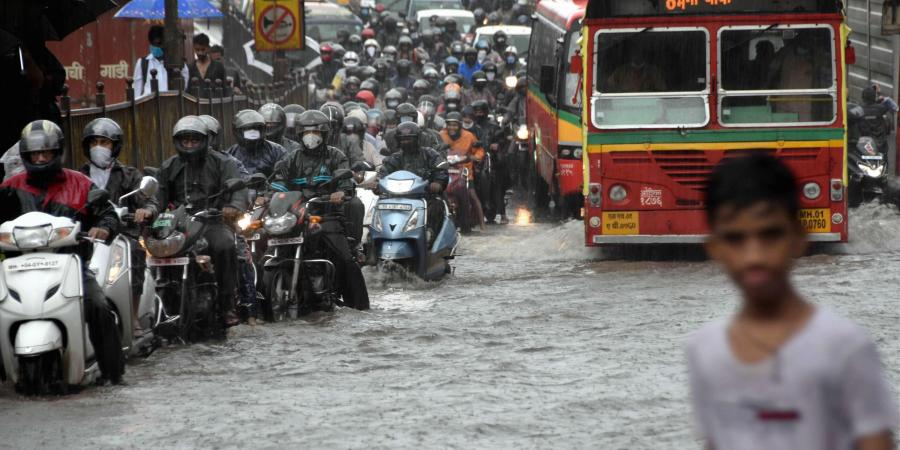 Parts Of Mumbai Report Heavy Rain, Local Train Services Disrupted Due To Waterlogging