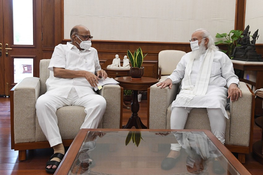 Ahead Of Monsoon Session Of Parliament, NCP Chief Sharad Pawar Meets PM Modi