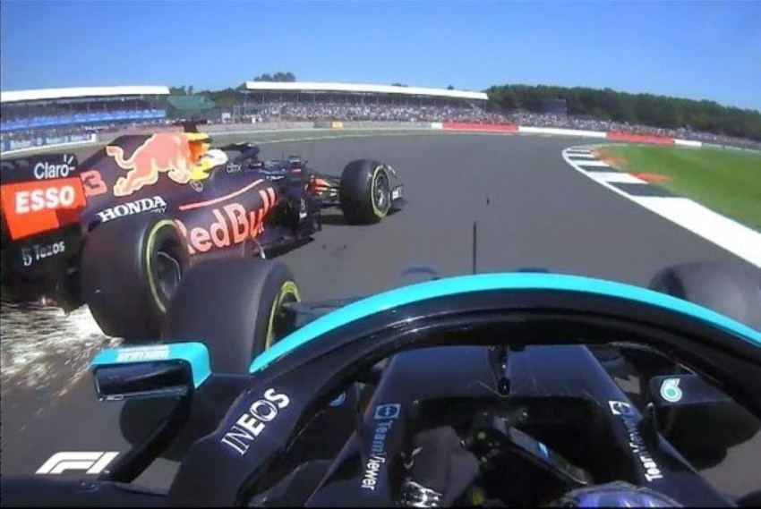 F1, British GP: Max Verstappen Crashes Out After First Lap Battle With Lewis Hamilton