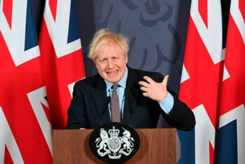 UK PM Johnson Urges People To Stay Cautious As Lockdown Restrictions Ease