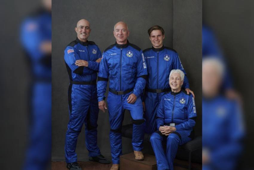 Blue Origin's Jeff Bezos Reaches Space On First Passenger Flight