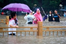 China Floods: 33 Dead After Heaviest Rainfall In 1000 Years