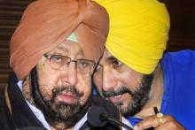 Navjot Sidhu Joins Amarinder For Tea Before Taking As Punjab Congress Chief