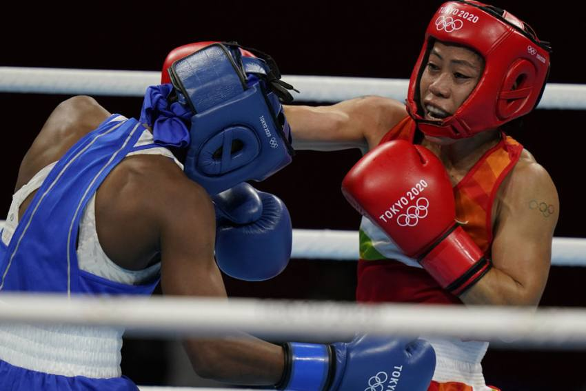 Mary Kom Teaches Miguelina Garcia Boxing Lessons, Enters Tokyo Olympics Pre-quarters
