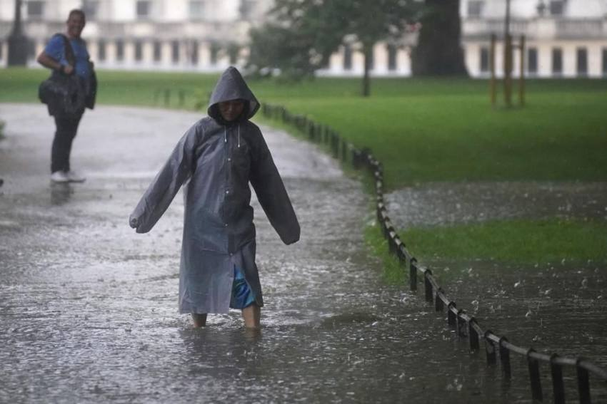 London Cleans Up After Torrential Rains Wreak Havoc