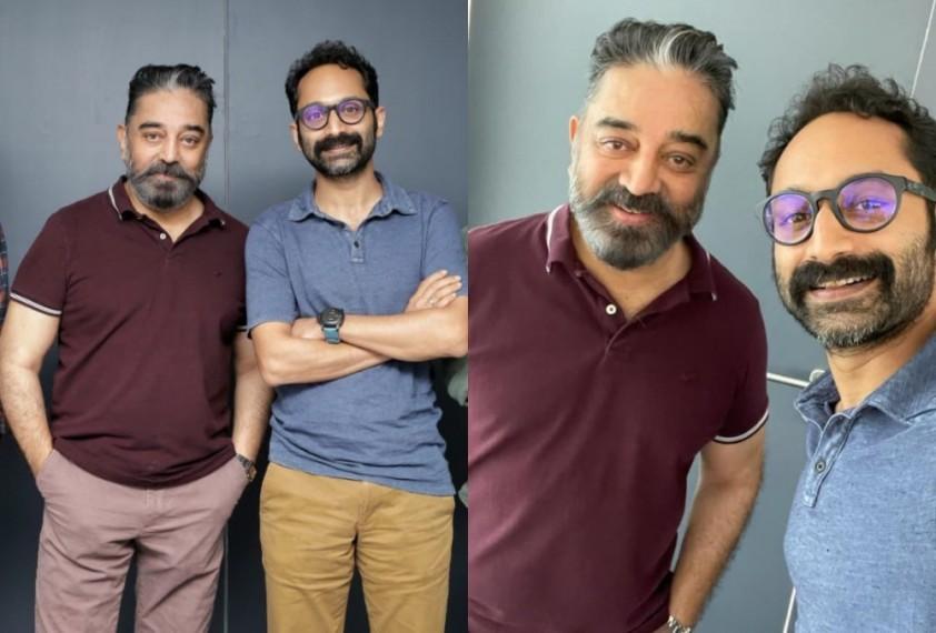 Fahadh Faasil's Selfie With Kamal Haasan From 'Vikram' Sets Goes Viral