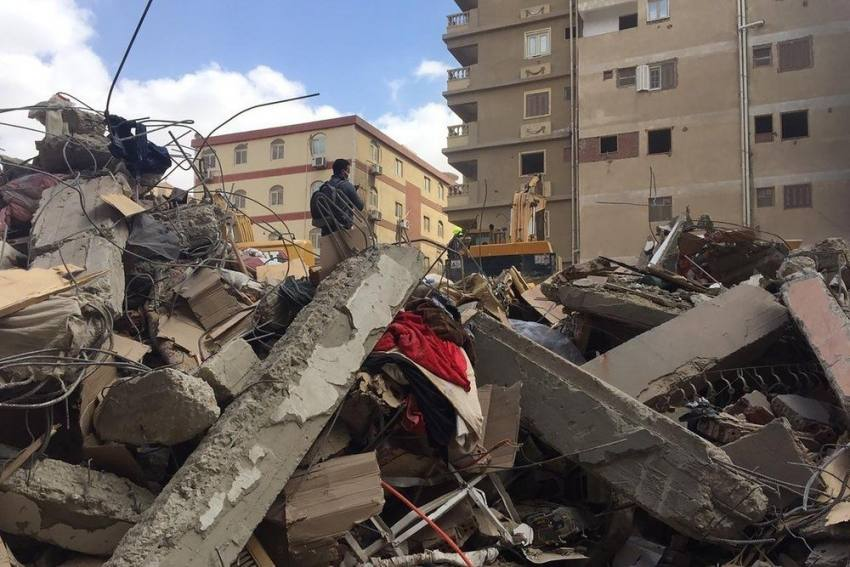 Residential Building In Cairo Collapses, One Dead