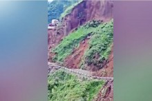 Watch: Dramatic Road Collapse After Landslide In Himachal