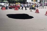 Delhi Road Under IIT Flyover Caves In Due To Heavy Rains