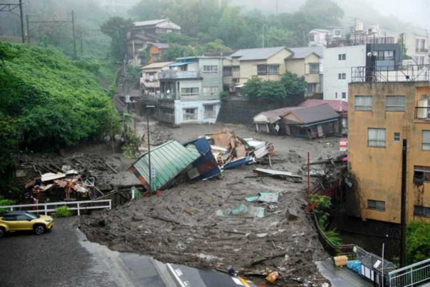 Japan Mudslide: 4 Dead, 24 Missing As Search Continues In Rubble
