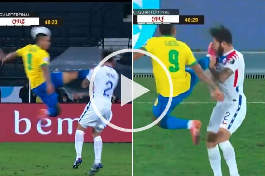 Copa America, Brazil Vs Argentina: 'Flying' Jesus Out Of Final For THIS Kick - WATCH