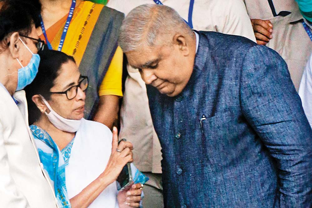 In Battleground Bengal, TMC Pulls Out Corruption Gun In Mamata Vs Dhankhar Face-Off