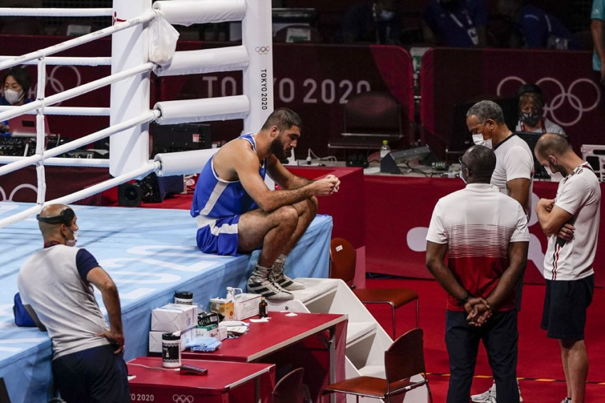 Tokyo Olympics: French Boxer Mourad Aliev Gets Disqualified For Headbutt, Sits On Ring Apron In Protest