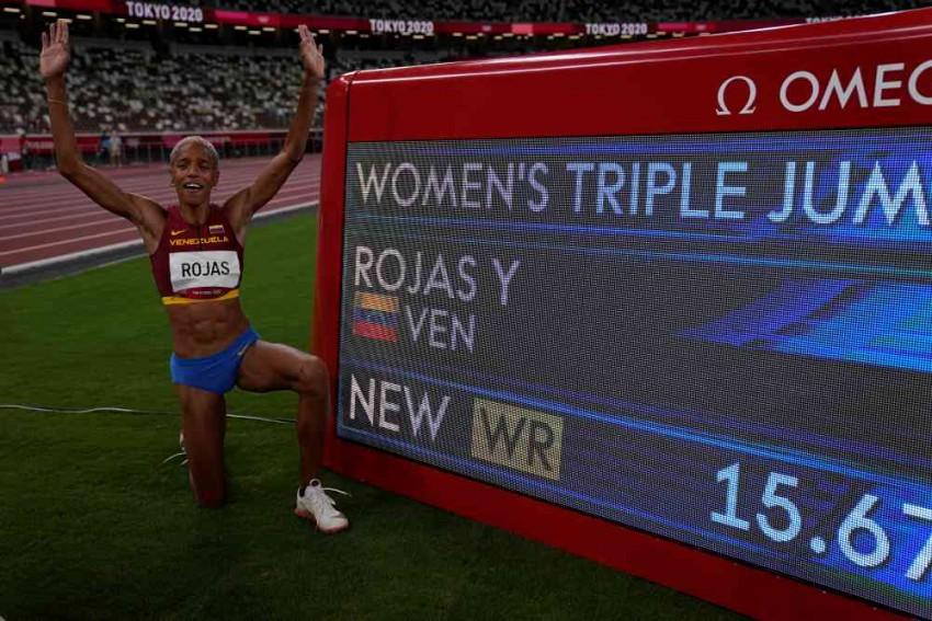 Yulimar Rojas Sets World Record To Win Tokyo Olympic Women's Triple Jump