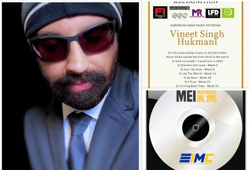 Indie Singer-Songwriter Vineet Singh Hukmani Becomes The First Ever Artist To Have Six Number Ones On The Euro Indie Music Charts