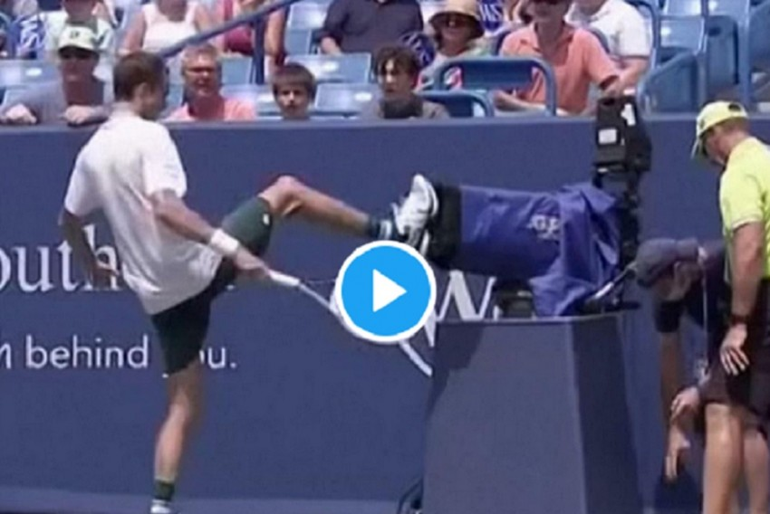 Watch - Daniil Medvedev Crashes Into TV Camera, Knocked Out Of Cincinnati Open