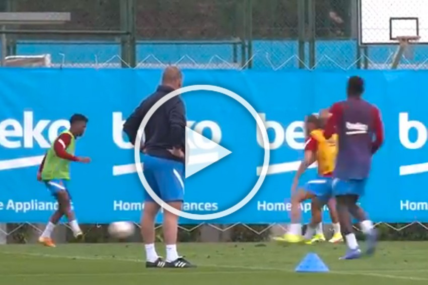 Barcelona Starlet Ansu Fati Back To Training Nearly 10 Months After Knee Injury - WATCH
