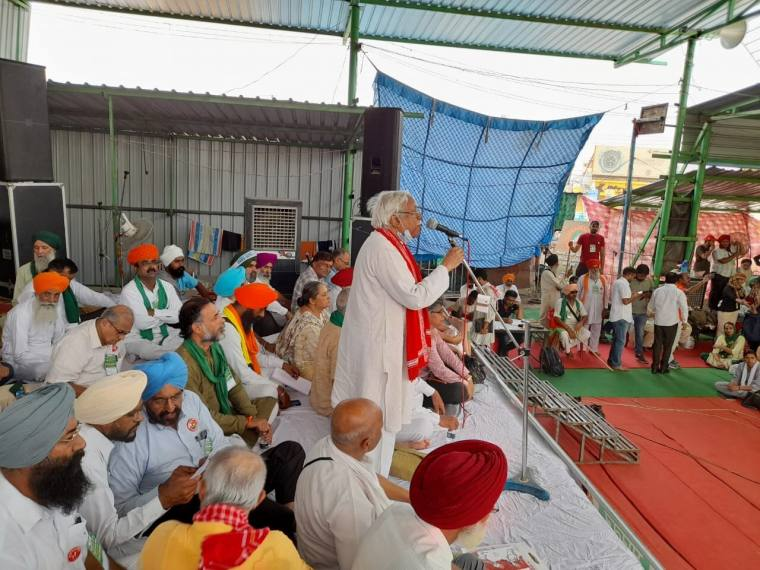 Farmers Gather At Singhu Border For 2 Day National Convention Marking 9 Months Of Protest