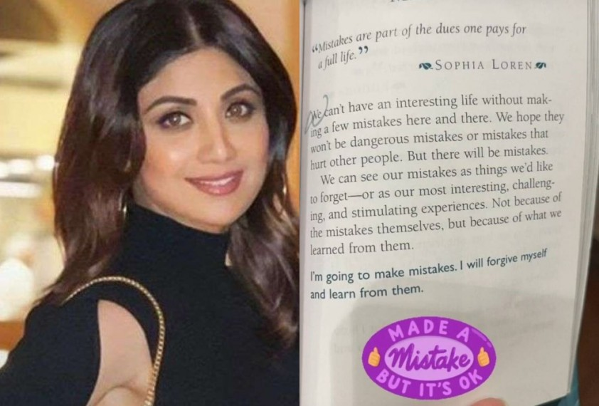 Shilpa Shetty's Note on 'Making Mistakes' Goes Viral