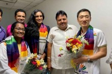 PV Sindhu, Coach Park Tae-sang Return From Tokyo Olympics To Warm Reception