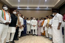 Opposition Leaders Attend Breakfast Meet Hosted By Rahul Gandhi To Discuss Pegasus Row