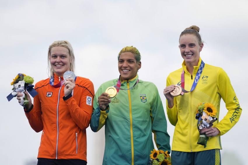 Tokyo Olympics: Brazil's Ana Marcela Cunha Wins Women's Marathon Swimming