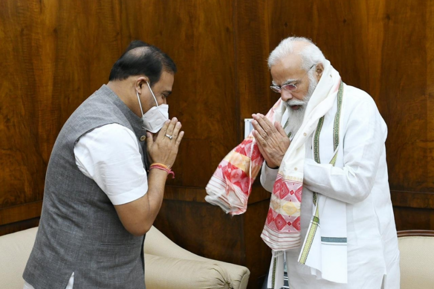 Assam CM Interacts With PM Modi, Union Transport Minister