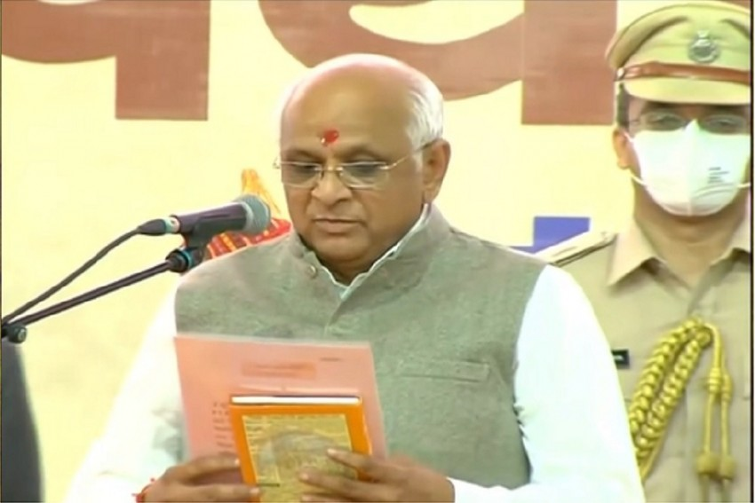 BJP's Surprise Pick Bhupendra Patel Takes Oath As Gujarat Chief Minister