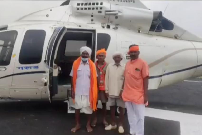 Watch: Four MP Tribals Get A Ride In CM Shivraj Singh Chouhan's Chopper