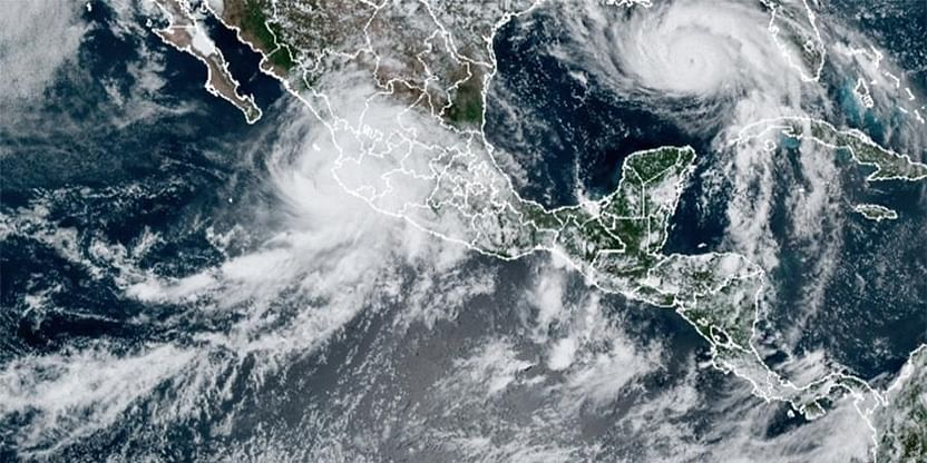 Tropical Storm Peter Forms Over The Atlantic Ocean