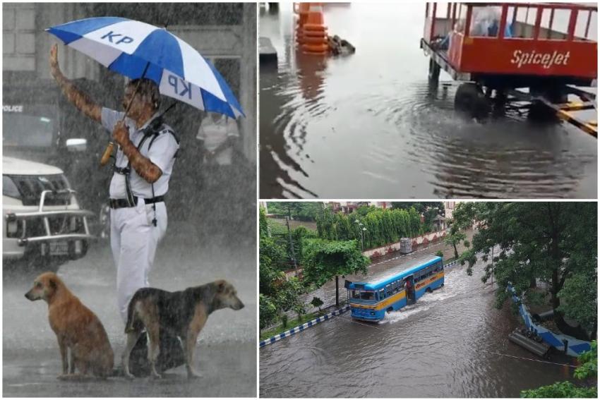 Kolkata Rains: Videos Of Waterlogged Airport, Streets Flood Twitter Amid Non-Stop Downpour