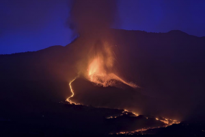 Airport On Spanish Island Reopens Amid Roaring Volcano